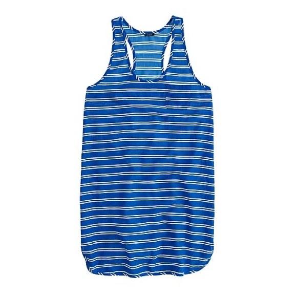 J. Crew Other - 3/$30 J. Crew Blue Gauze Tank Dress in Stripe XL